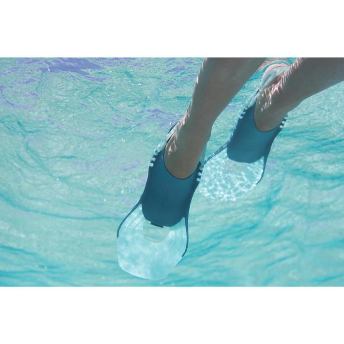Palmes de snorkeling enfant SNK 500 JR Turquoise réglables