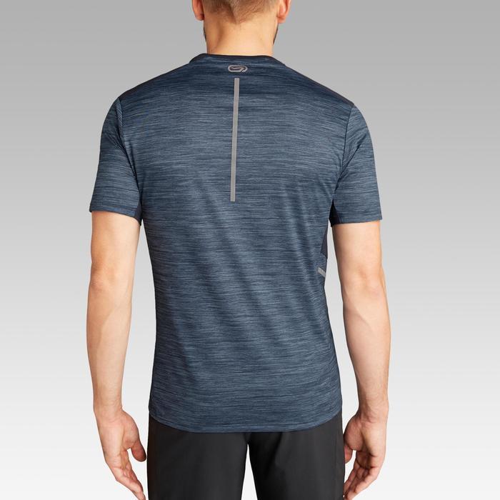 Camiseta Manga Corta Running Kalenji Run DRY+ Hombre Azul Jaspeado