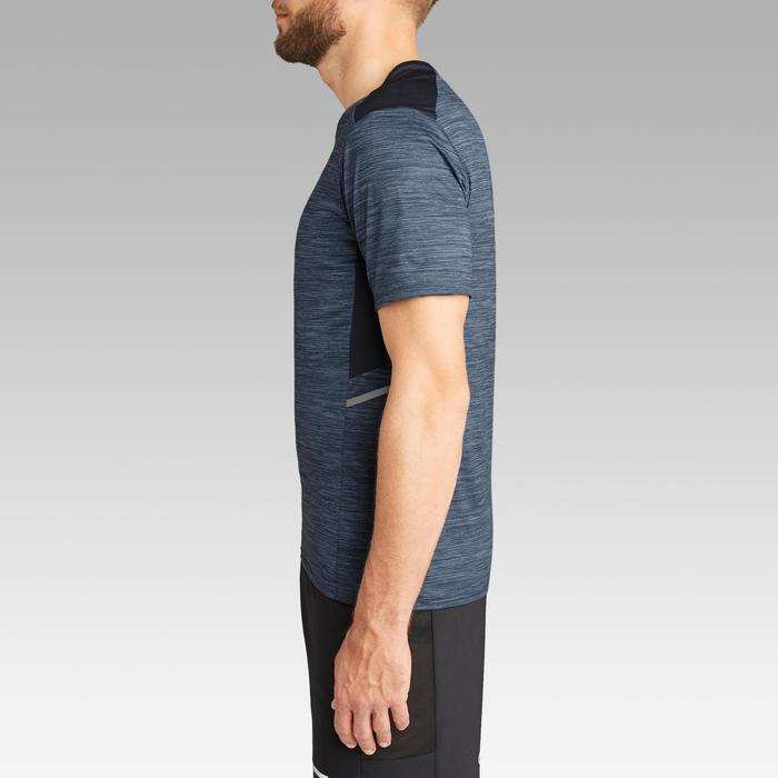 Hardloop T-shirt voor heren Run Dry+ gemêleerd blauw