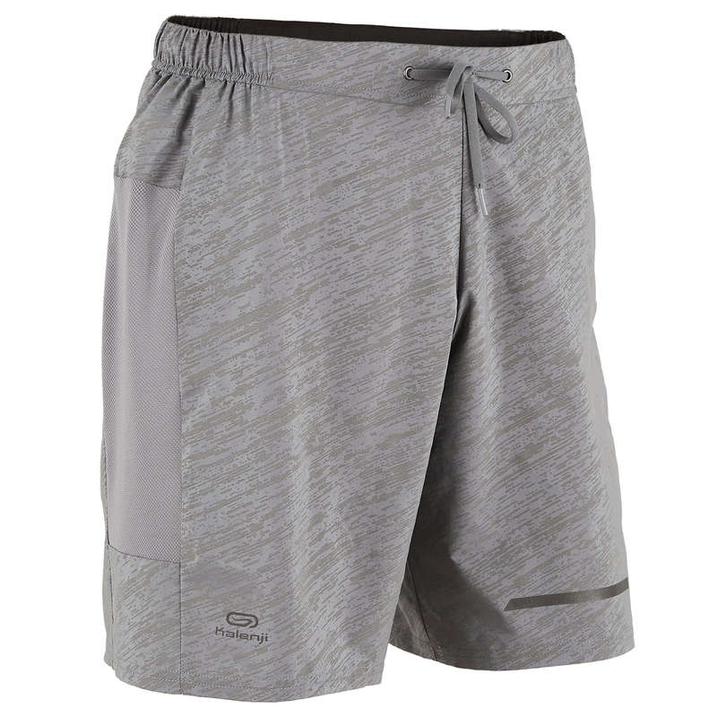 REGULAR MAN JOG WARM/MILD WTHR CLOTHES Running - RUN DRY+ NIGHT SHORTS - GREY KALENJI - Running Clothing