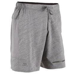 SHORT RUNNING HOMME RUN DRY + N GRIS CLAIR