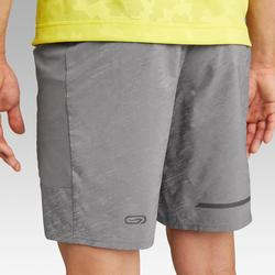 Laufshorts Run Dry+ Night Herren hellgrau/schwarz