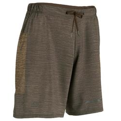 Pantalon Corto Deportivo Running Kalenji Run Dry+ Hombre Marrón