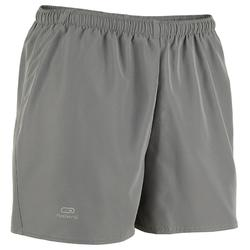 Pantalon Corto Deportivo Running Kalenji Run Dry Hombre Gris