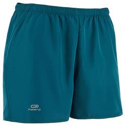 Pantalon Corto Deportivo Running Kalenji Run Dry Hombre Azul