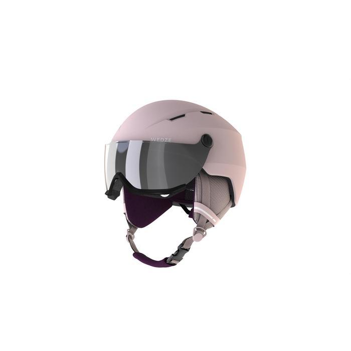CASQUE VISIÈRE DE SKI DE PISTE ADULTE H350 ROSE