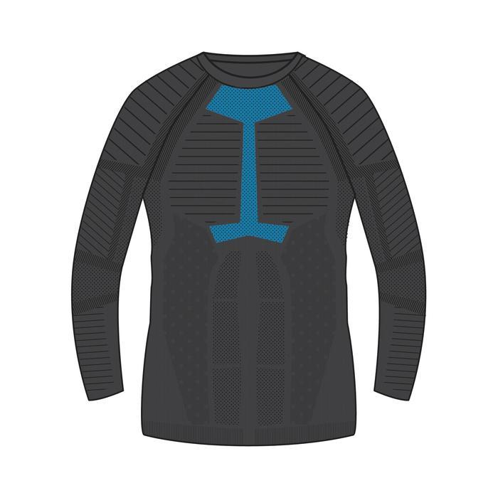 男款滑雪底層衣i-Soft - 黑色