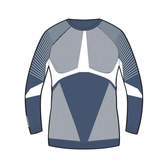 Thermoshirt voor skiën heren 900 marineblauw