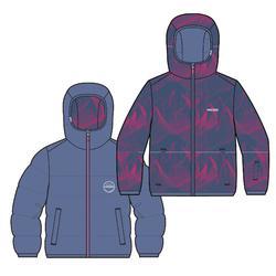 Skijacke Warm wendbar 100 Kinder blau/rosa