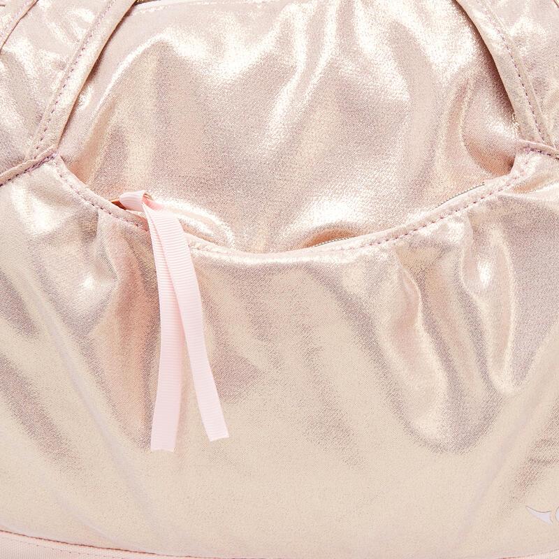 กระเป๋าใส่อุปกรณ์เต้น (สีชมพูทอง)