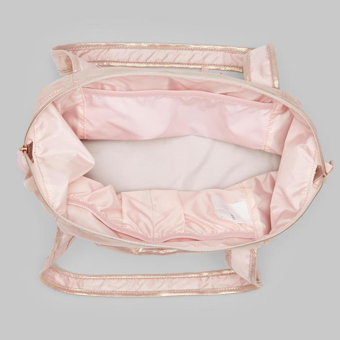 Bolsa de danza rosa dorado