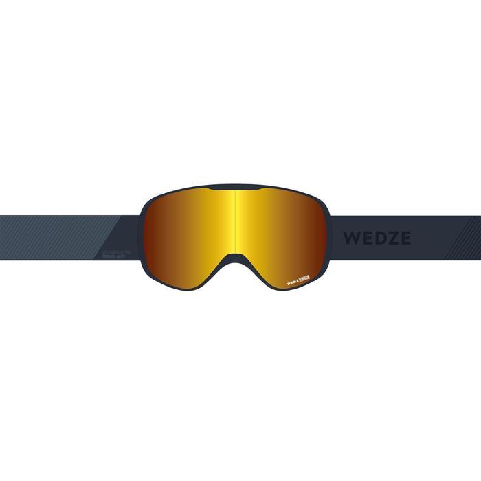 女性與女童款好天氣單/雙板滑雪護目鏡G 500 W - 亞洲紫