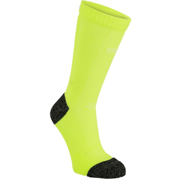 Dikke enkelsokken voor hardlopen Kiprun geel