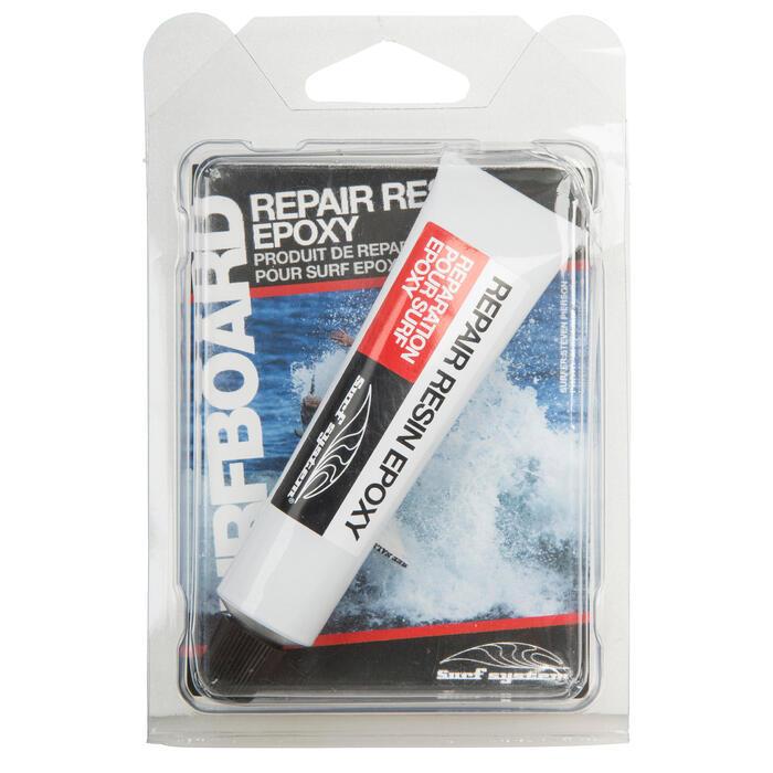 Kit de réparation pour planches de surf en résine epoxy.
