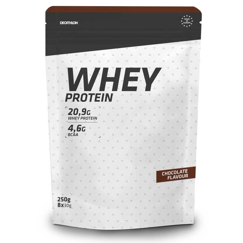 PROTEINY / DOPLŇKY STRAVY Proteiny a gainery - PROTEIN WHEY ČOKOLÁDOVÝ 250 G DOMYOS - Proteiny a gainery
