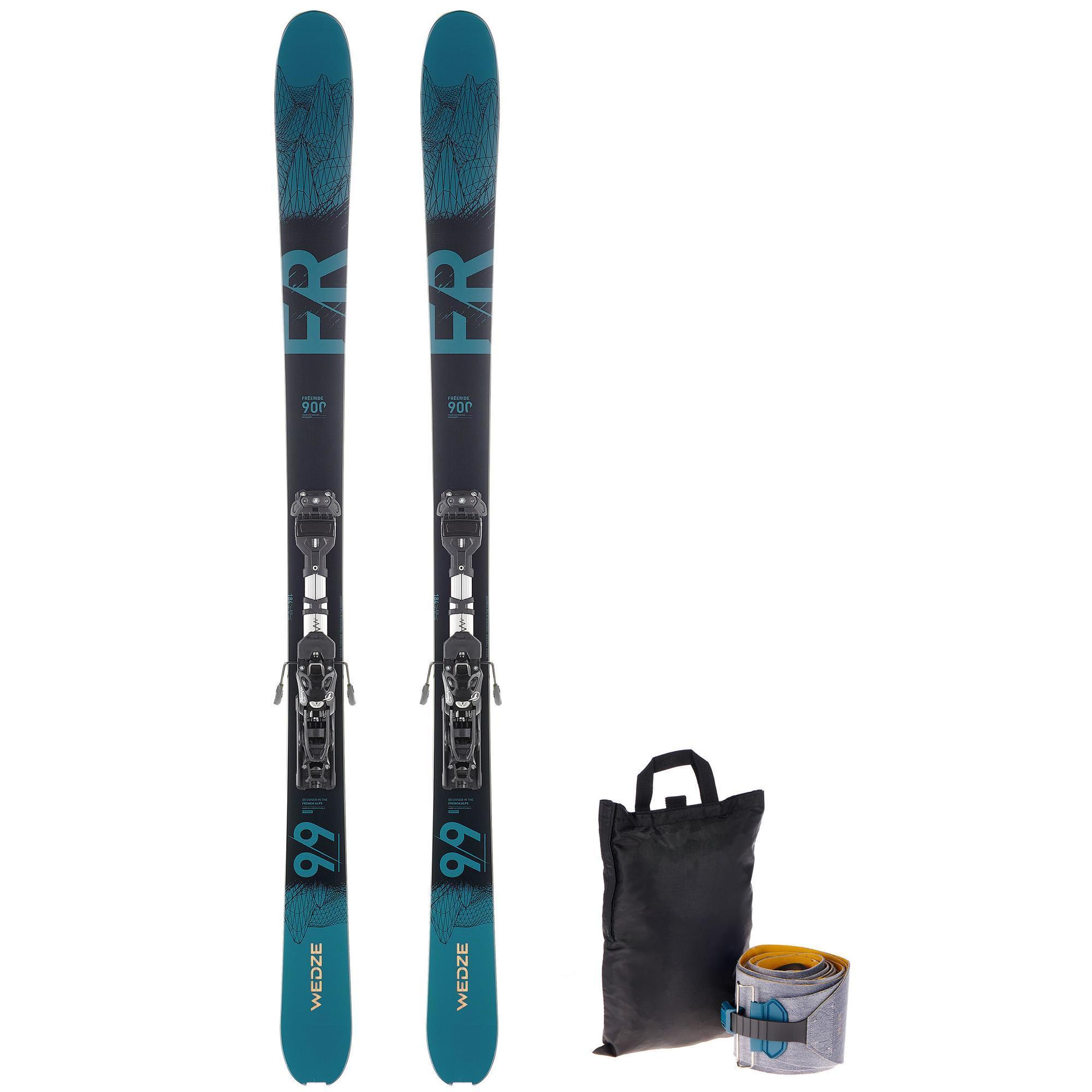 Wedze pack ski freeride randonnee fr 900 petrole noir fixations peaux wedze