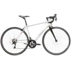 Bicicleta de carretera mujer Triban Regular blanco