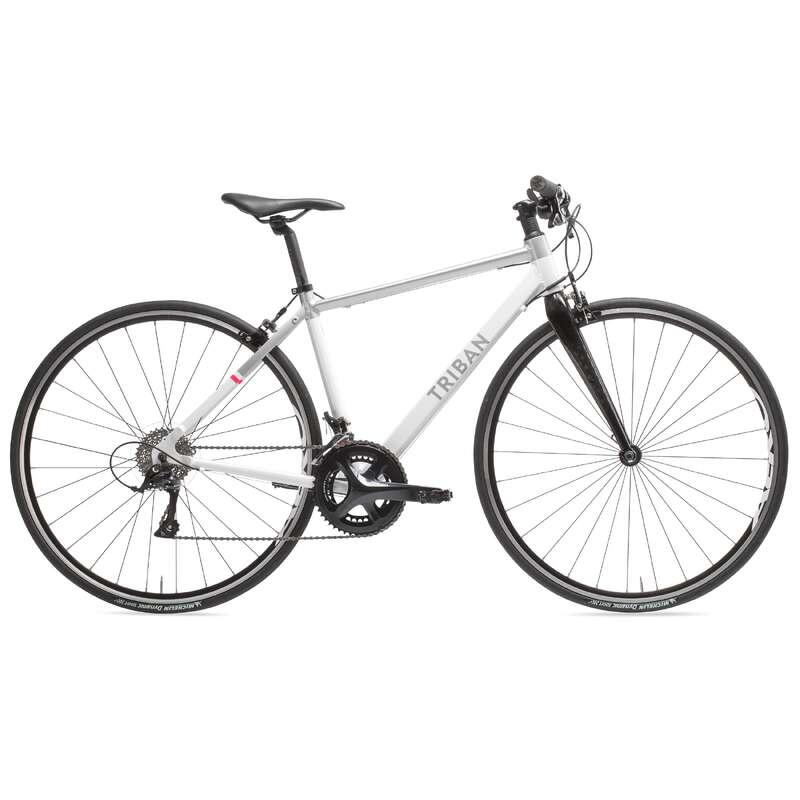 WOMAN ROAD BIKES Cycling - Women's Intermediate Flat Bar Road Bike - Sora TRIBAN - Bikes