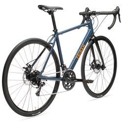Racefiets voor recreatief fietsen met schijfremmen RC120 marineblauw/oranje