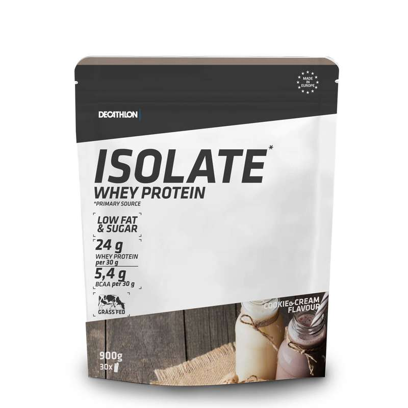 PROTEINE ȘI SUPLIMENTE ALIMENTARE Fitness Cardio, Bodybuilding, Crosstraining, Pilates - WHEY PROTEIN ISO COOKIES 900 G DOMYOS - Proteine si suplimente alimentare