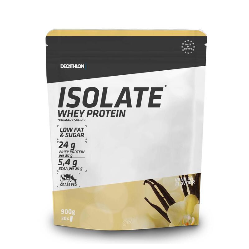 PROTEINA WHEY ISOLATE 24g proteína suero de leche SABOR VAINILLA 900 g