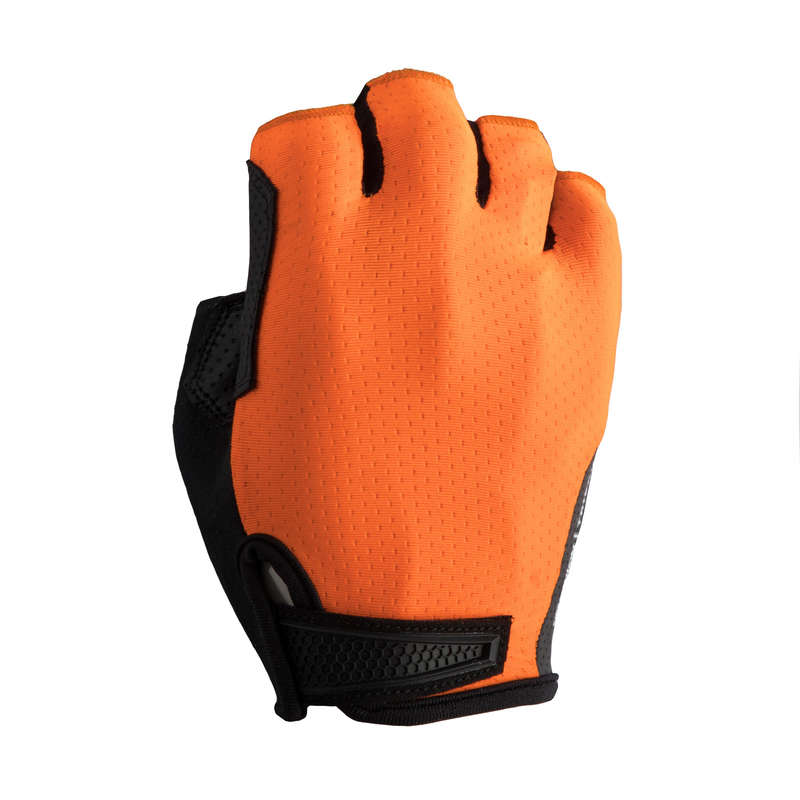 BIKE GLOVES WARM WEATHER Cycling - RR 900 Cycling Gloves - Neon Orange TRIBAN - Clothing