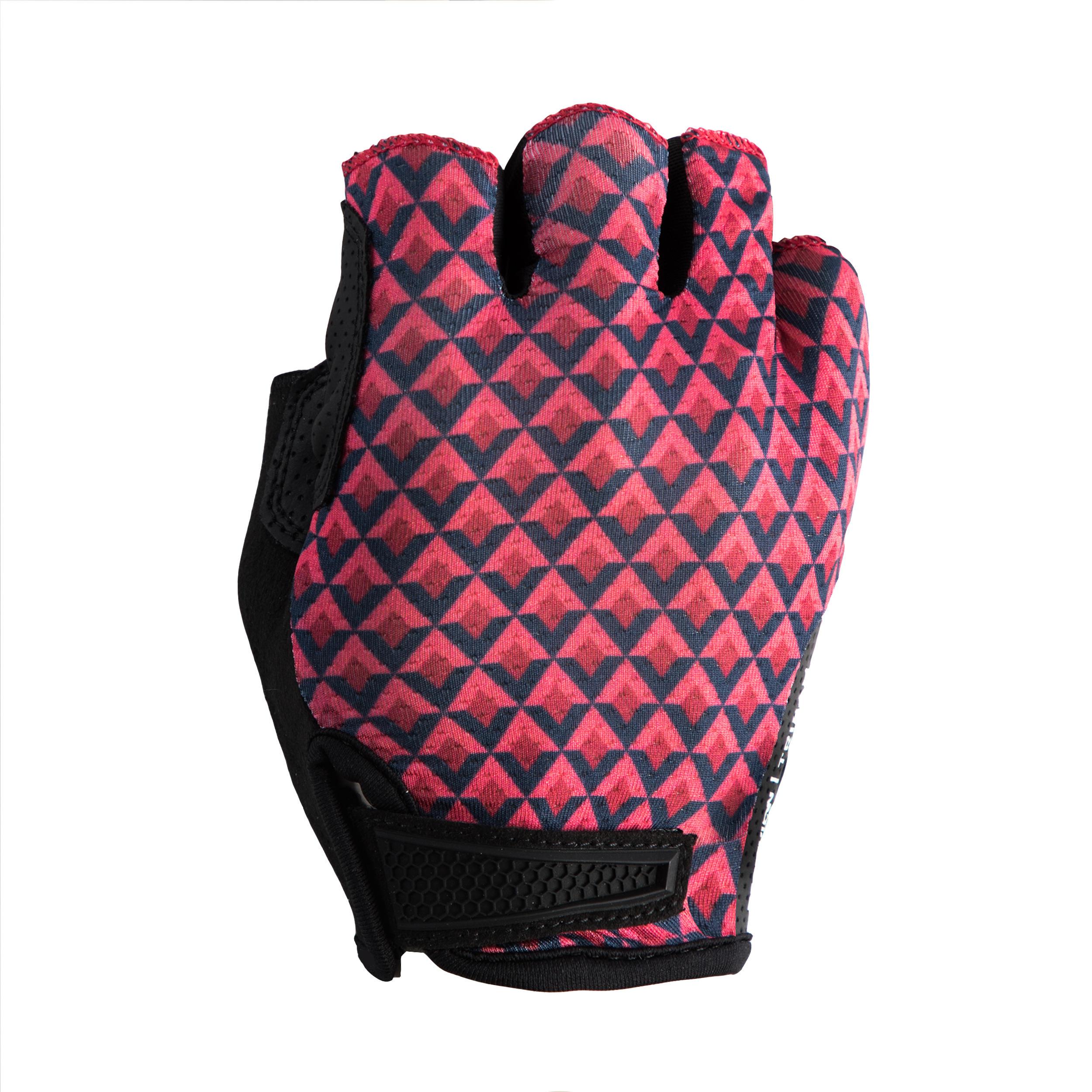 Triban Wielrenhandschoenen RC900 roze