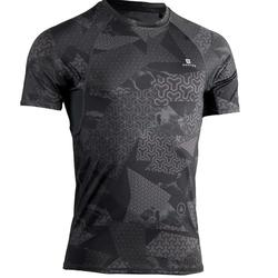 T-SHIRT MUSCULATION COMPRESSION HOMME NOIR / GRIS