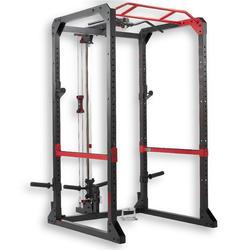 Rack de musculación - Tracción/Sentadillas/Desarrollo tumbado/Tracción espalda