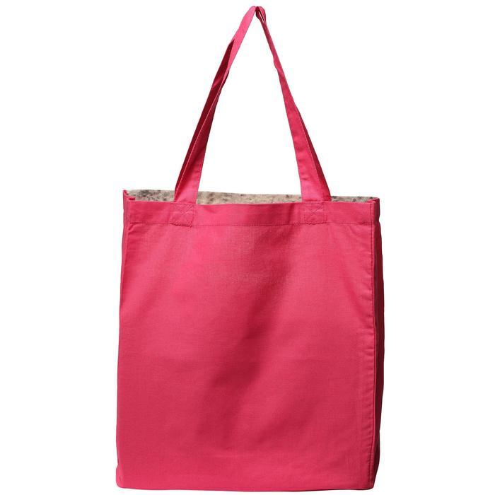 Katoenen verzorgingstas Astro ruitersport roze