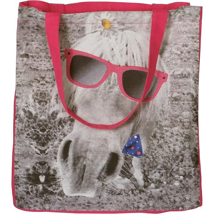 Sac de pansage équitation en coton ASTRO rose