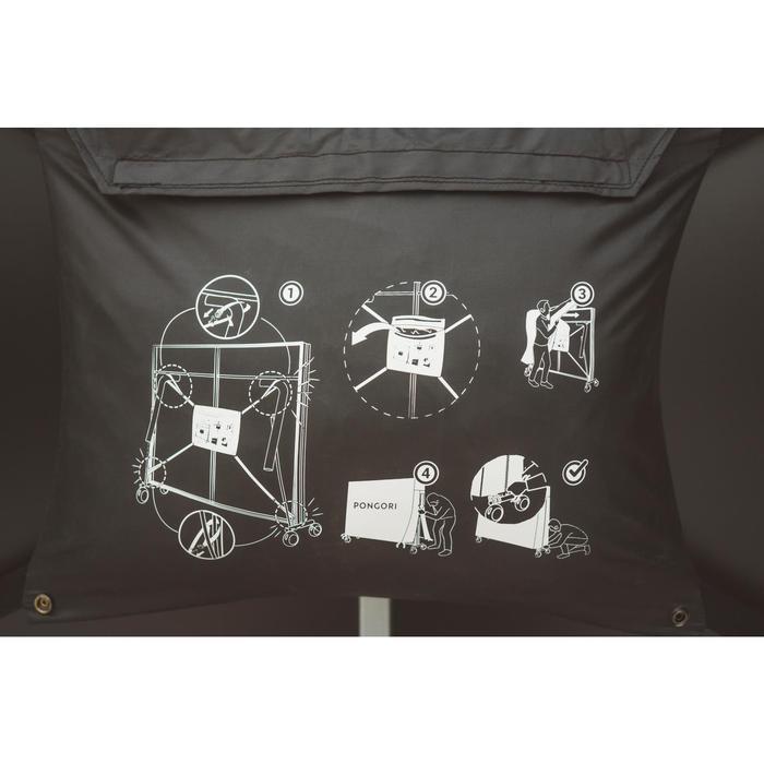 Beschermhoes PPC voor opgeklapte tafeltennistafel zwart
