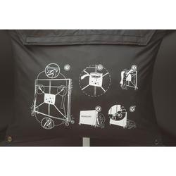 Hoes voor opgeklapte tafeltennistafel zwart