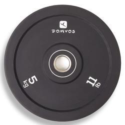 Disco bumper de halterofilia Domyos de 5 kg, diámetro interior 50 mm