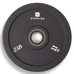 Weight-Lifting Bumper Disc 50mm Internal Diameter 5kg