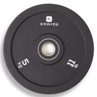 Weightlifting 5 kg Bumper Plate - Inner Diameter 50 mm