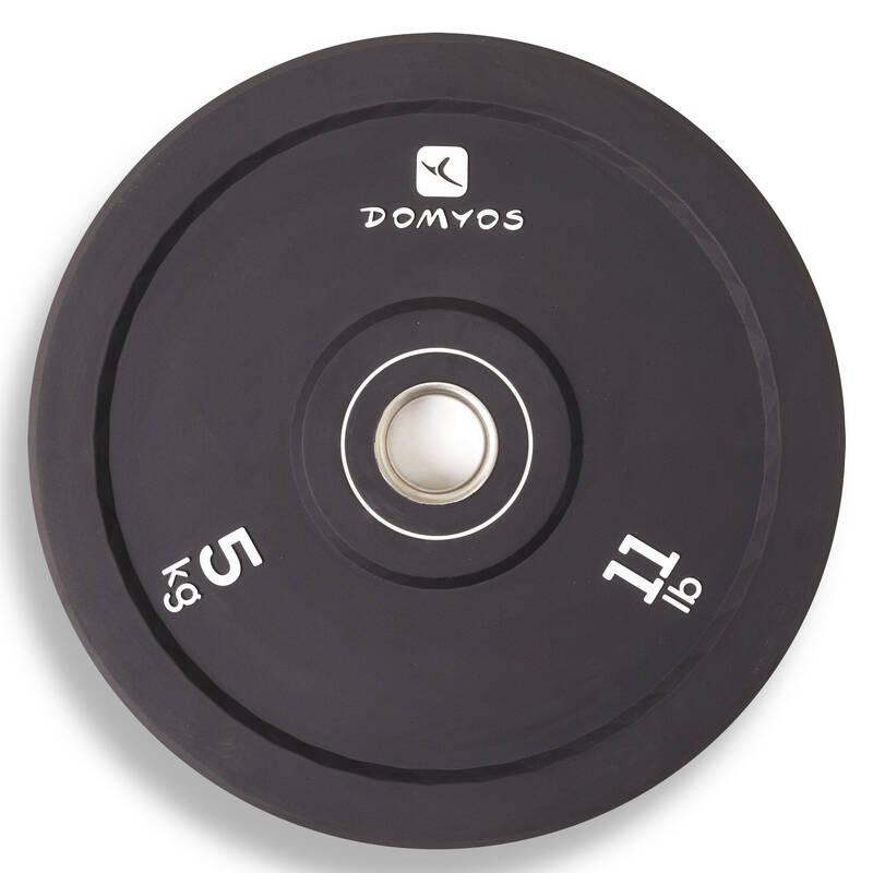 Weight lifting Fitness - KOTOUČ BUMPER 5 KG DOMYOS - Posilování a kruhový trénink