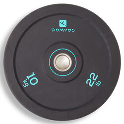 Disco Bumper de Halterofilismo 10 kg, Diâmetro Interior 50 mm