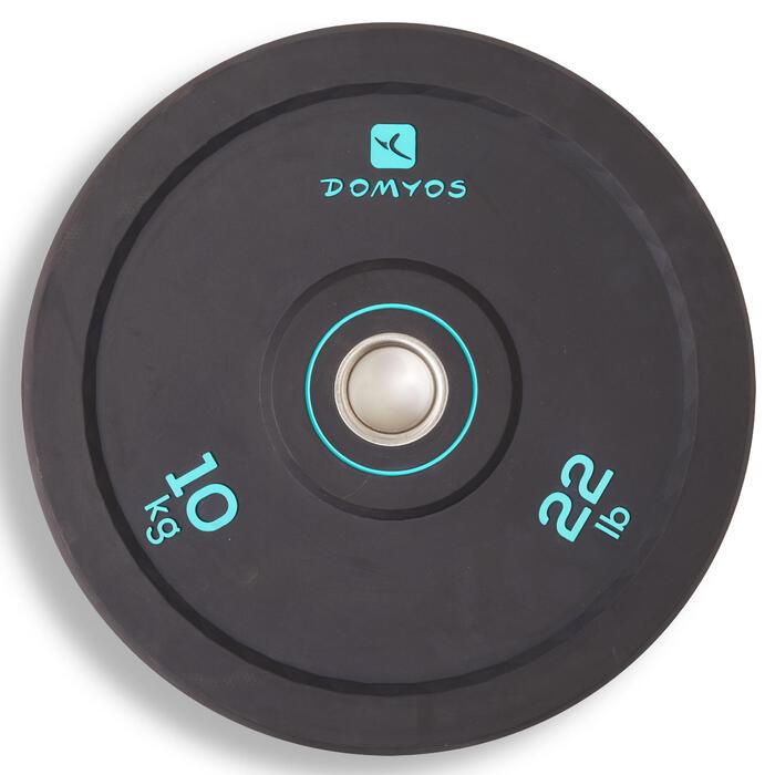 Disco bumper de halterofilia 10 kg, diámetro interior de 50 mm