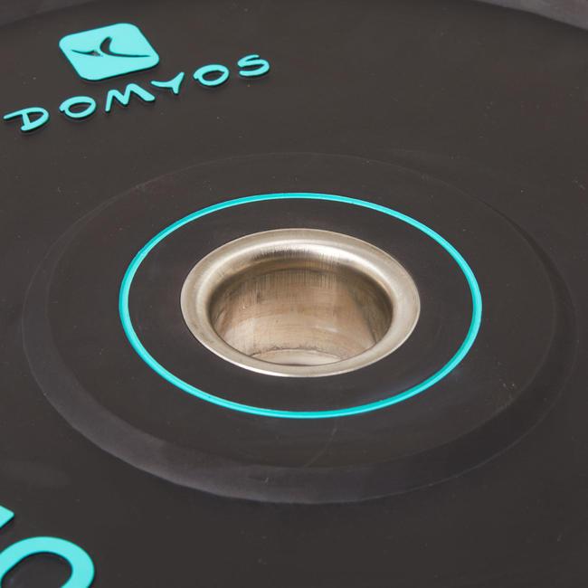 Weightlifting Bumper Disc 10 kg - Inner Diameter 50 mm
