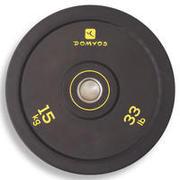 Weightlifting Bumper Disc 15 kg - Inner Diameter 50 mm