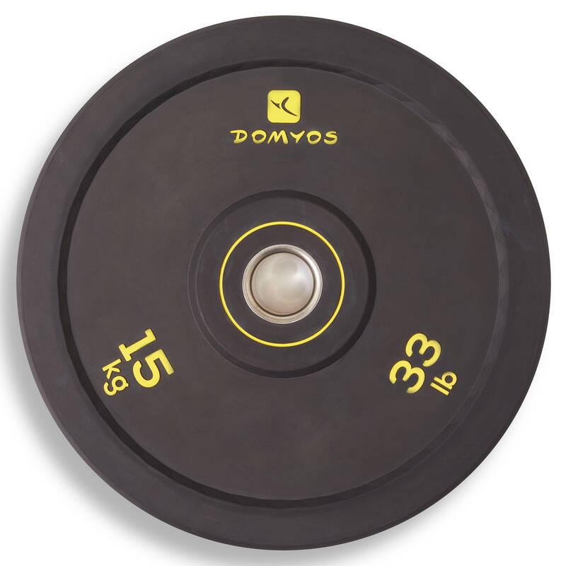 Weight lifting Fitness - KOTOUČ BUMPER 15 KG DOMYOS - Posilování a kruhový trénink