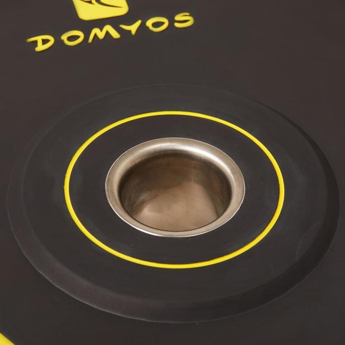 Disco Bumper Halterofilia Domyos 15kg Diámetro 50mm Negro/Amarillo