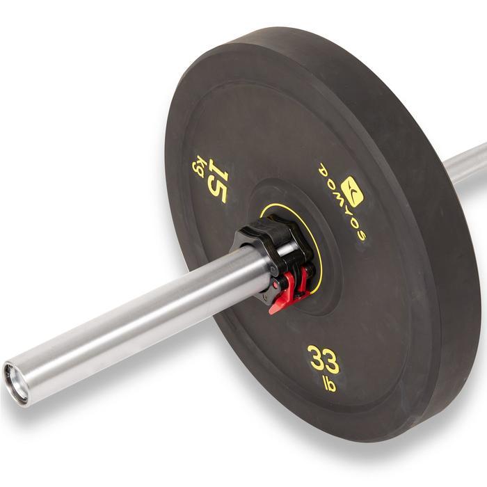 Hantelscheibe Bumper 15kg Innendurchmesser 50mm