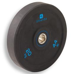 Bumperschijf gewichtheffen 20 kg, binnendiameter 50 mm
