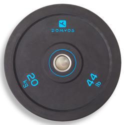 Disco bumper de halterofilia Domyos de 20 kg, diámetro interior 50 mm