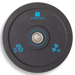 Weightlifting Bumper Disc 20 kg - Inner Diameter 50 mm
