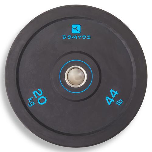 disque d'haltérophilie bumper 50 mm 20kg