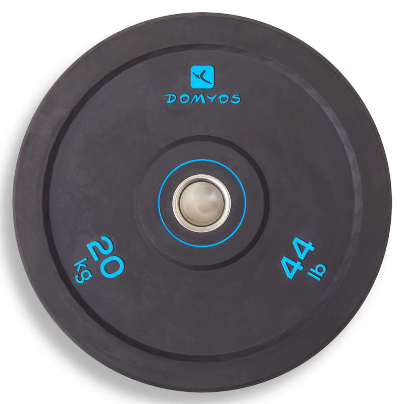 BARRE E PESI CROSS TRAINING Fitness - Disco bumper 20kg DOMYOS - Attrezzi palestra