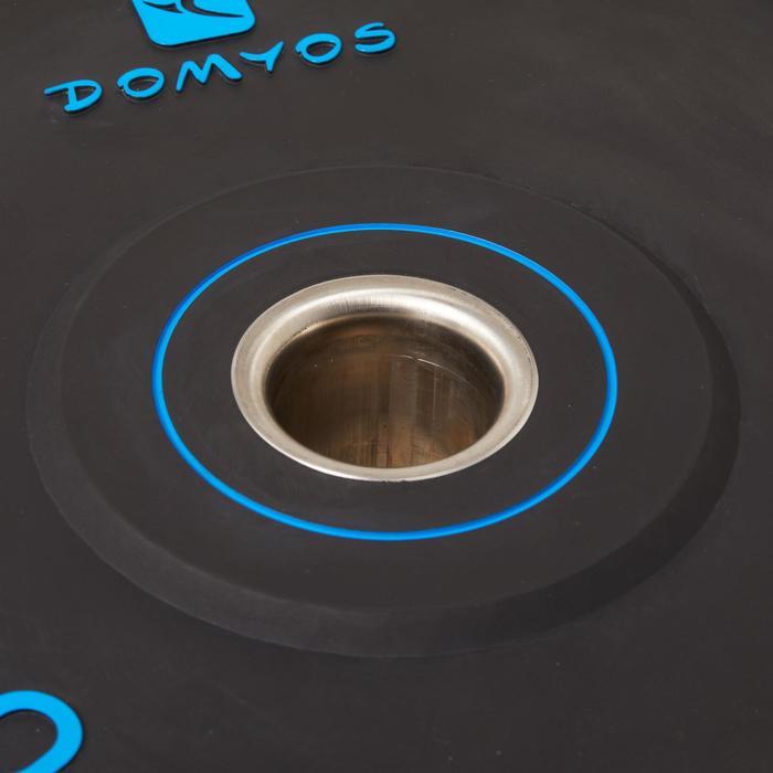 Disco Bumper Halterofilia Domyos 20kg Diámetro 50mm Negro